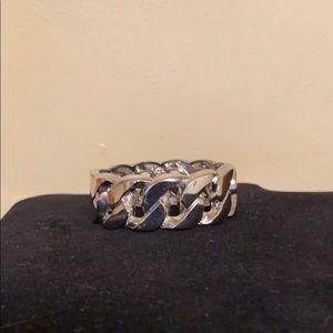 Silver chain link cuff